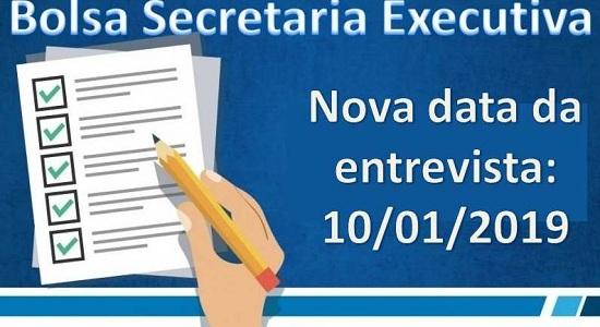 Processo Seletivo para bolsista da Secretaria Executiva: entrevista é remarcada