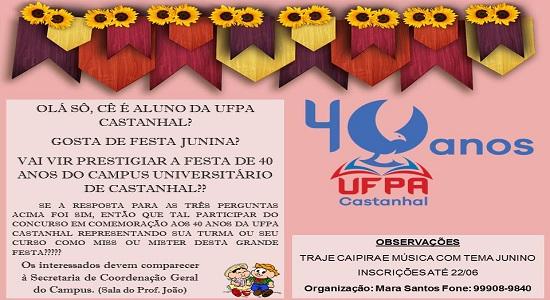 Concurso vai eleger miss e mister no evento de aniversário dos 40 anos do Campus Castanhal