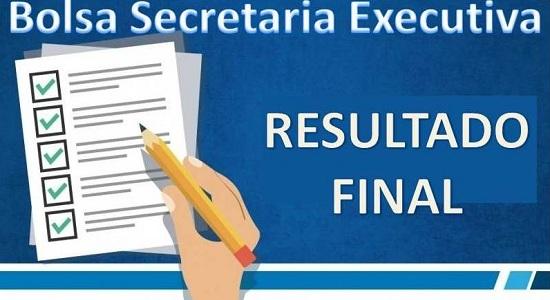Processo Seletivo para bolsista da Secretaria Executiva: resultado final