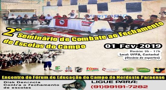 Campus da UFPA/Castanhal vai sediar o II Seminário de Combate ao Fechamento de Escolas no Campo
