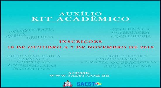 Assistência Estudantil publica edital para Auxílio Kit Acadêmico