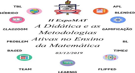 II ExpoMAT trará palestra e exposição de pôsteres sobre Metodologias Ativas no ensino da Matemática