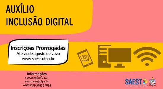 UFPA prorroga o período de inscrições para o Auxílio Inclusão Digital até 21 de agosto