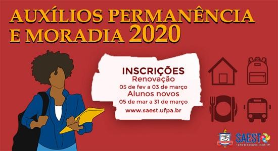 Saest divulga edital para auxílios Permanência e Moradia 2020