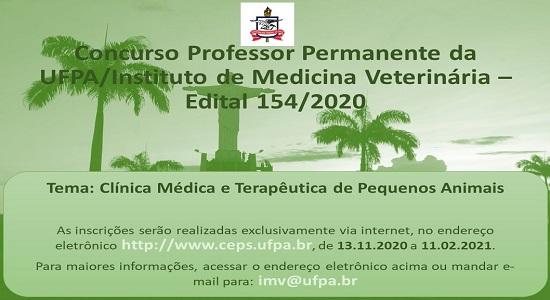 Instituto de Medicina Veterinária abre concurso para professor efetivo