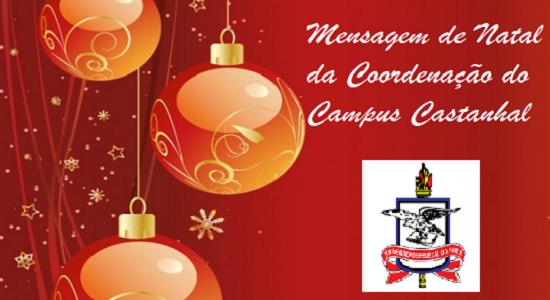 Mensagem de Natal da Coordenação do Campus Castanhal
