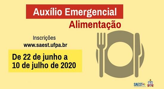 UFPA abre inscrição para Auxílio Emergencial Alimentação para estudantes