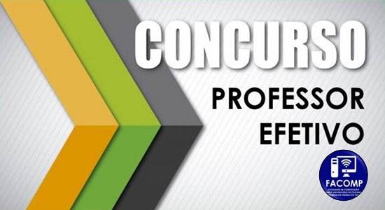 Faculdade de Computação abre inscrições para concurso público para a contratação de professor efetivo