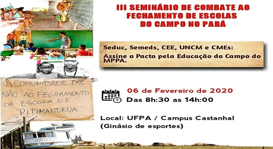 Campus da UFPA/Castanhal recebe o III Seminário de Combate ao Fechamento de Escolas do Campo