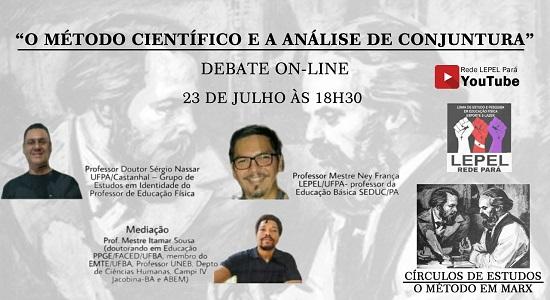 """Círculo de Estudos """"O Método em Marx"""" promove live nesta quinta, 23"""