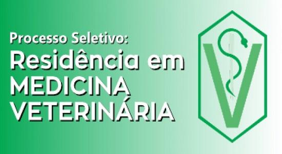 Inscrições abertas para residência multiprofissional em Medicina Veterinária