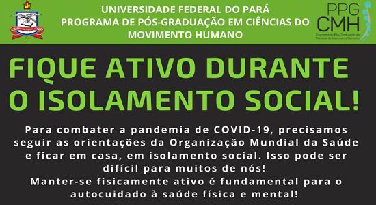 Professores da UFPA produzem material com orientações sobre atividades físicas no período de isolamento social