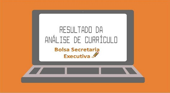 Processo Seletivo para bolsista da Secretaria Executiva: resultado da análise dos currículos