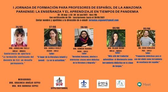 Inscrições abertas para a I Jornada de Formação para Professores de Espanhol da Amazônia Paraense