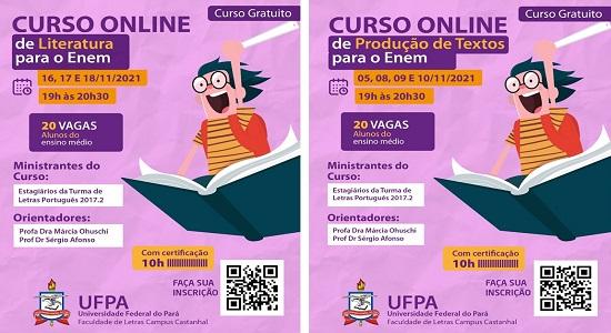 Faculdade de Letras oferta minicursos preparatórios para o Enem para alunos do Ensino Médio