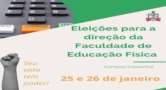 Faculdade de Educação Física realiza processo eleitoral para os cargos de diretor e vice